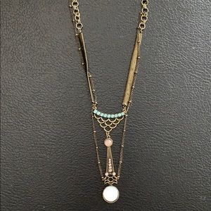 Free People Moonstone Necklace